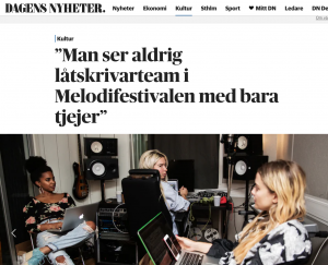 Anna Engberg at Cosmos Music Camp by Dagens Nyheter